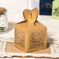 wedding favor boxes gold laser cut heart wedding favor boxes ewfb109 as low as 0 93