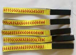softball headbands best real leather softball seam headband yellow softball headbands