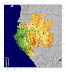 Geographic Map Of Africa by Detailed Physical Map Of Gabon Gabon Detailed Physical Map
