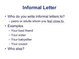 informal letter writing worksheets for class 6 ppt an informal