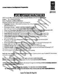 Times Job Resume Upload by Programme Associate Programme Management Specialist Ict