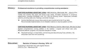 resume stunning sample cna resume pretty stunning resume for cna