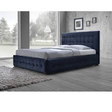 Modern King Platform Bed Baxton Studio Margaret Modern And Contemporary Navy Blue Velvet