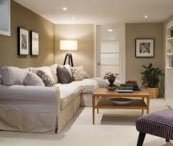 The Best Light Paint Colours For A Dark Room  Basement - Family room in basement