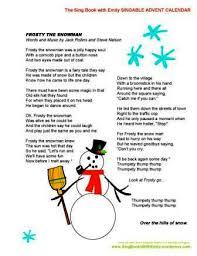 6 images frosty snowman story printable lyrics
