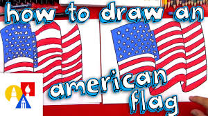 how to draw the american flag youtube