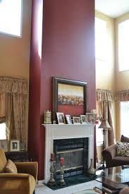 accent wall for mantel fireplace home furnishings pinterest