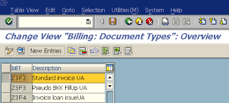 sap document types table invoice output fail because of missing billing type text in tvfkt table