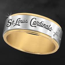 st louis cardinals spinner ring wedding cardinals