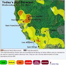 Wildfire Air Pollution Map by Smoke From Yosemite Fire Causes U0027hazardous U0027 Air Quality