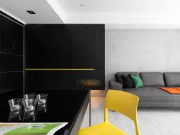 Yellow Black Room A Black U0026 White Apartment With Yellow Accents Design Milk