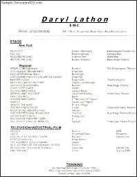 musical theatre resume template musical theatre resume exles yourway tk