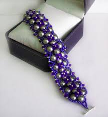 free seed bead bracelet patterns triangle weave easy leather