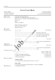 resume templates and exles resume format exles for tomyumtumweb