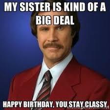 Funny Sister Meme - happy birthday meme funny sister funny happy birthday sister