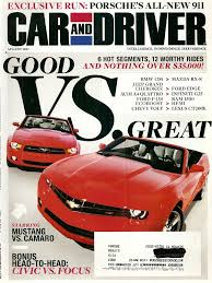 car and driver mustang vs camaro 2010 2019 car driver magazine magazines auto car