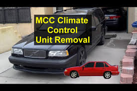 mcc climate control unit removal volvo s70 v70 xc70 850 etc