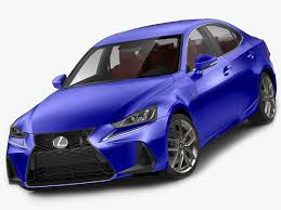 lexus purple lexus is f sport 2017 3d cgtrader