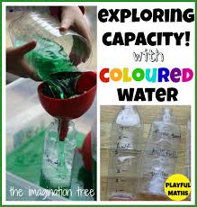 Capacity Exploring Capacity With Coloured Water The Imagination Tree