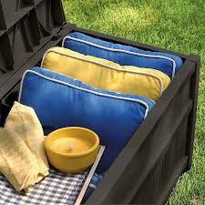 Suncast 50 Gallon Patio Bench by Amazon Com Suncast Db5500j 50 Gallon Deck Box With Seat Garden