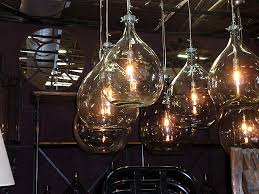 Recycled Glass Light Fixtures by Industrial Glass Bottle Lighting Hudson Goods Blog