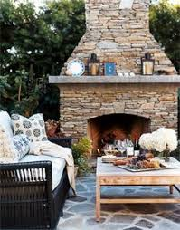 Stacked Stone Outdoor Fireplace - build an outdoor fireplace this woman never used mortar and