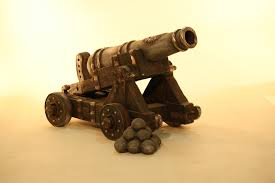 life size 3d model cannon prop hire cannon with cannon balls prop