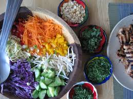 cold noodle salad with peanut lime chicken dianne faw