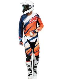 orange motocross gear alpinestars orange white navy 2016 techstar venom mx jersey