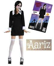 Halloween Costume Wednesday Addams Wednesday Addams Fancy Dress Ebay