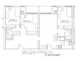 Floor Plan Image Temple Towers University Housing And Residential Life