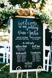 wedding program board chalkboard wedding program emakesolutions