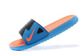 kd slides orange and blue nike kd slides model aviation
