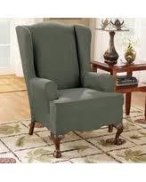 wing chair green slipcovers bhg com shop