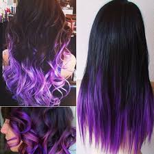 Colors That Go With Purple by Long Dark Wavy Hair With Purple Highlights Google Search