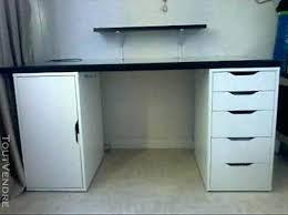 bureau en verre blanc caisson de bureau ikea table de cuisine ikea en verre bureau verre