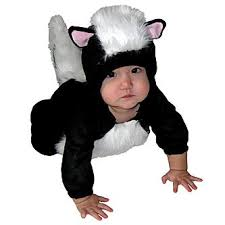 totally ghoul infant plush skunk jumper halloween costume size 6