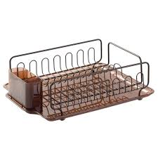 kitchen sink drainer interdesign forma lupe dish drainer in amber bronze 68982 the home