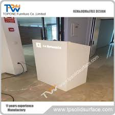 Front Reception Desk White Solid Surface Small Office Front Reception Desk Design Buy