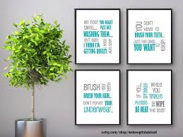 Bathroom Quotes For Walls Teal And Gray Bathroom Art Bathroom Quotes Funny Bathroom