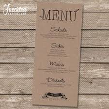menu design for dinner party menu card we can do something like this on each place setting or we