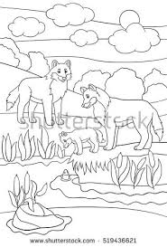 coloring pages marine wild animals mother stock vector 539567878