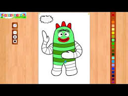 yo gabba gabba coloring pages book video colouring muno brobee