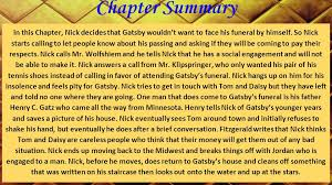 the great gatsby chapter 9 analysis chapter summary in this