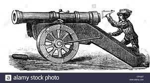 military artillery cannon german sevenpounder pivot gun from