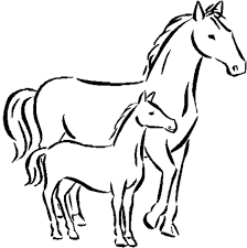 coloring kids printable horse coloring pages exterior