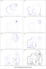 how to draw the sad gorilla from bubble guppies printable step by