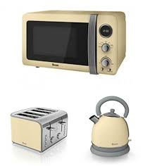 Morphy Richards Toaster Cream Swan Kitchen Appliance Retro Set Cream Microwave Cream Dome