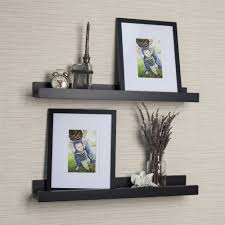 Wood Gallery Shelf by Metal Picture Ledges Displaying Attractive Decorations In Home