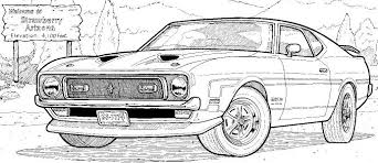coloriage à imprimer véhicules voiture ford numéro 390892